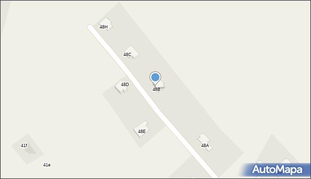 Gać, Gać, 48B, mapa Gać