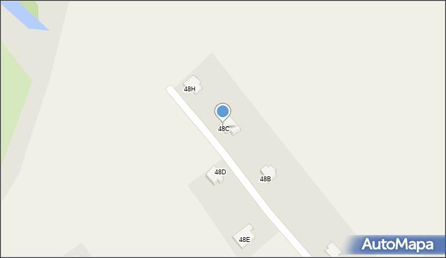 Gać, Gać, 48C, mapa Gać