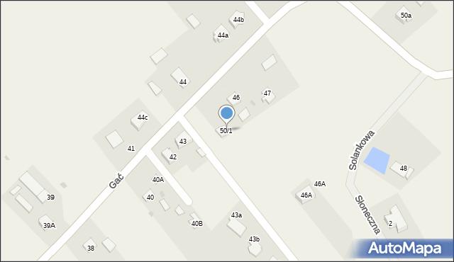 Gać, Gać, 50/1, mapa Gać