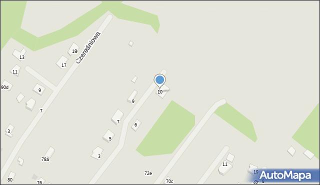 Grudziądz, Gajowa, 10, mapa Grudziądza