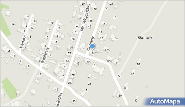 Jaworzno, Galmany, 8, mapa Jaworzno