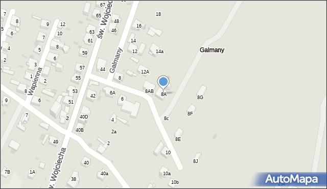 Jaworzno, Galmany, 8A, mapa Jaworzno