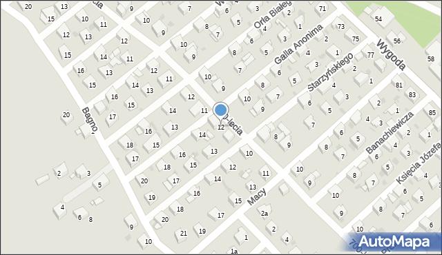Jaworzno, Galla Anonima, 12, mapa Jaworzno