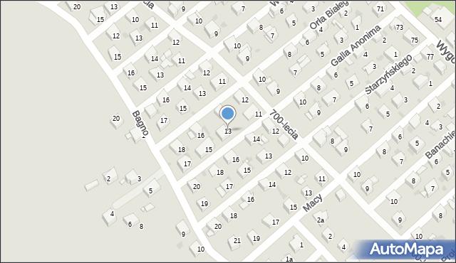 Jaworzno, Galla Anonima, 13, mapa Jaworzno