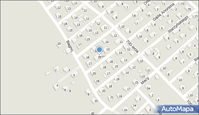 Jaworzno, Galla Anonima, 15, mapa Jaworzno