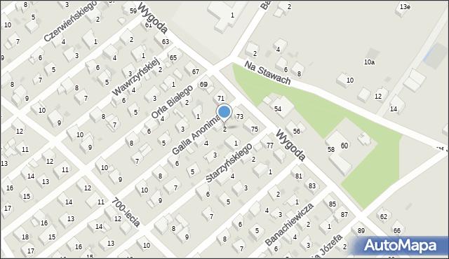 Jaworzno, Galla Anonima, 2, mapa Jaworzno