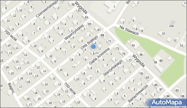 Jaworzno, Galla Anonima, 3, mapa Jaworzno
