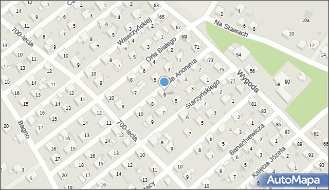 Jaworzno, Galla Anonima, 6, mapa Jaworzno