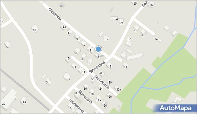 Limanowa, Gawrona Walentego, 1, mapa Limanowa