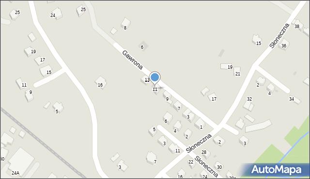 Limanowa, Gawrona Walentego, 11, mapa Limanowa