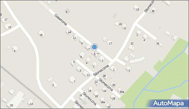 Limanowa, Gawrona Walentego, 3, mapa Limanowa