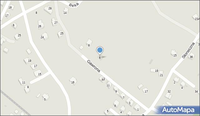 Limanowa, Gawrona Walentego, 6, mapa Limanowa