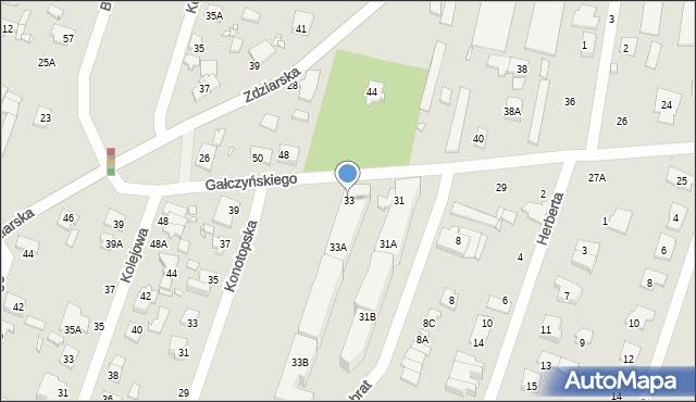 Pruszków, Gałczyńskiego Konstantego Ildefonsa, 33, mapa Pruszków