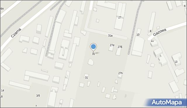 Radom, Gazowa, 31, mapa Radomia
