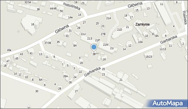 Radom, Garbarska, 18, mapa Radomia