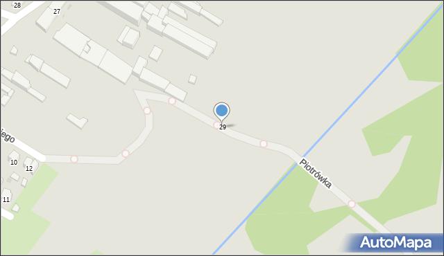Radom, Garbarska, 29, mapa Radomia