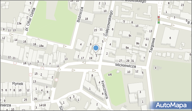 Rzeszów, Gałęzowskiego Jacentego, 1, mapa Rzeszów