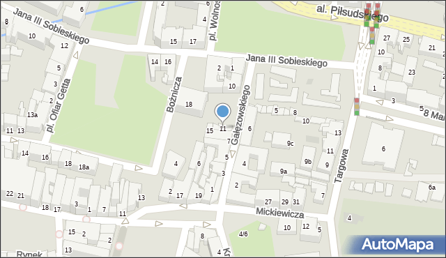 Rzeszów, Gałęzowskiego Jacentego, 11, mapa Rzeszów