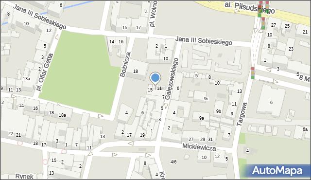 Rzeszów, Gałęzowskiego Jacentego, 13, mapa Rzeszów