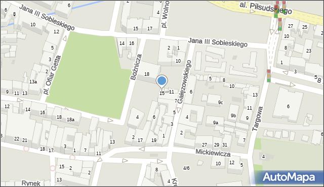 Rzeszów, Gałęzowskiego Jacentego, 15, mapa Rzeszów