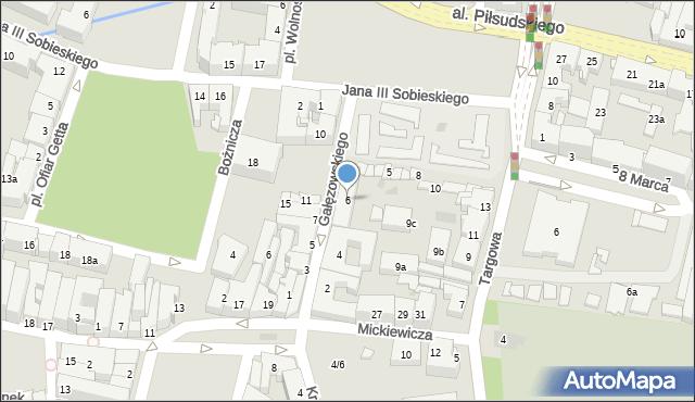 Rzeszów, Gałęzowskiego Jacentego, 6, mapa Rzeszów