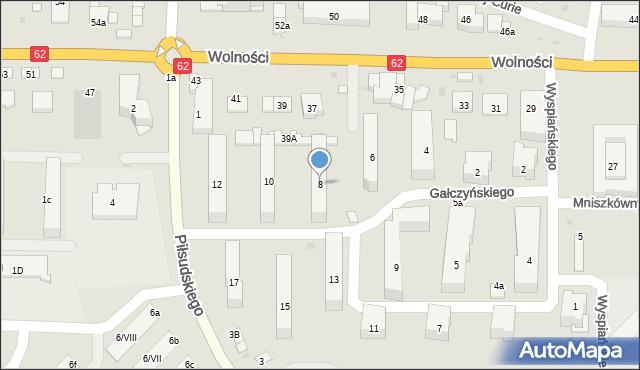 Sokołów Podlaski, Gałczyńskiego Konstantego Ildefonsa, 8, mapa Sokołów Podlaski