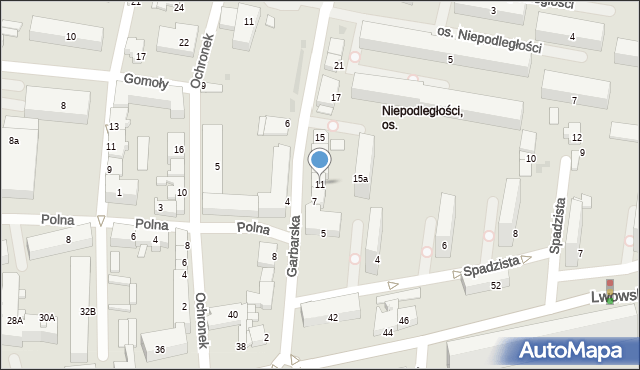 Tarnów, Garbarska, 11, mapa Tarnów