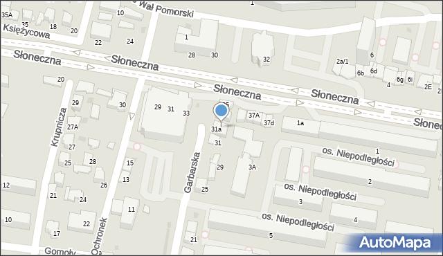 Tarnów, Garbarska, 33, mapa Tarnów