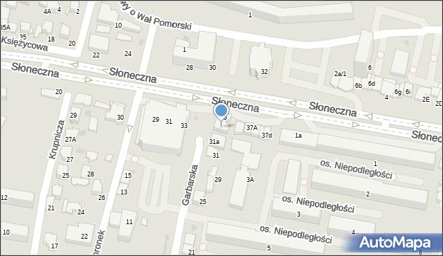 Tarnów, Garbarska, 37, mapa Tarnów