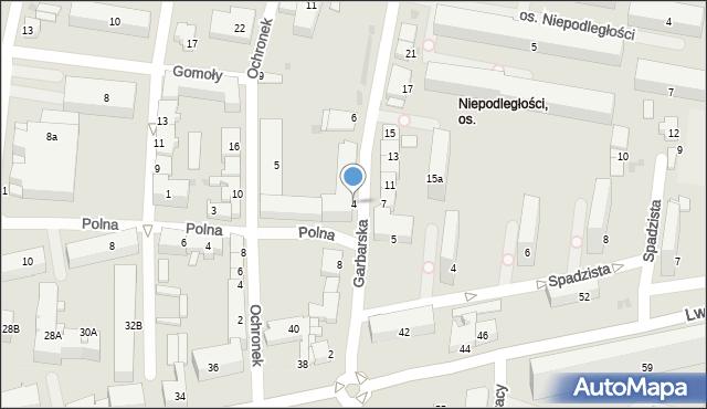 Tarnów, Garbarska, 4, mapa Tarnów