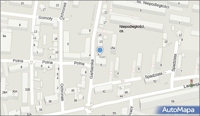 Tarnów, Garbarska, 9, mapa Tarnów