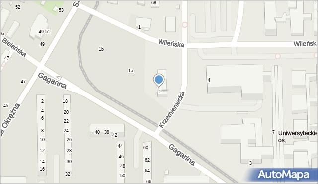 Toruń, Gagarina Jurija, 1, mapa Torunia