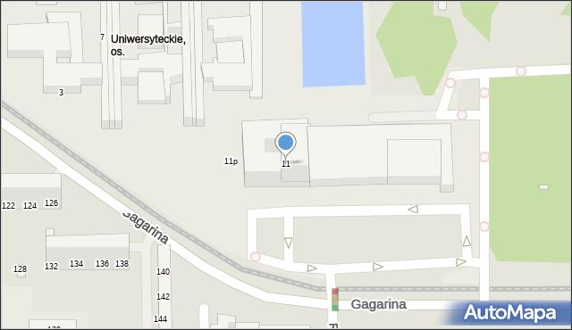 Toruń, Gagarina Jurija, 11, mapa Torunia