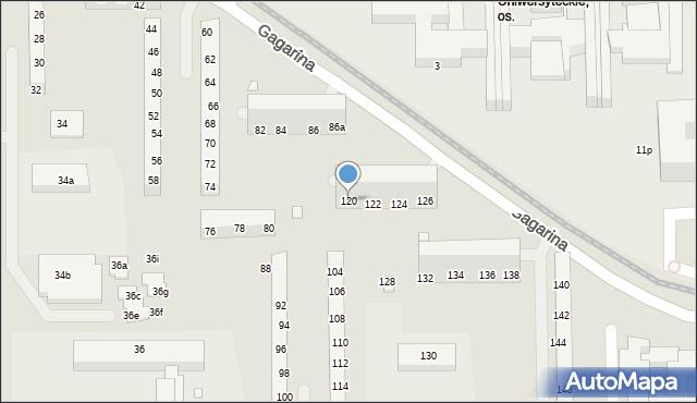 Toruń, Gagarina Jurija, 120, mapa Torunia