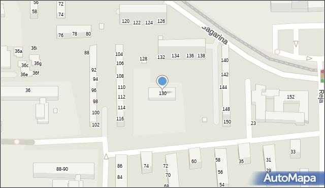 Toruń, Gagarina Jurija, 130, mapa Torunia