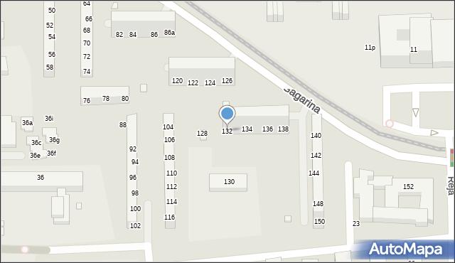 Toruń, Gagarina Jurija, 132, mapa Torunia