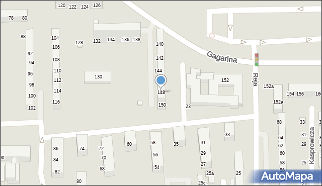 Toruń, Gagarina Jurija, 148, mapa Torunia