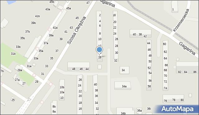 Toruń, Gagarina Jurija, 16, mapa Torunia