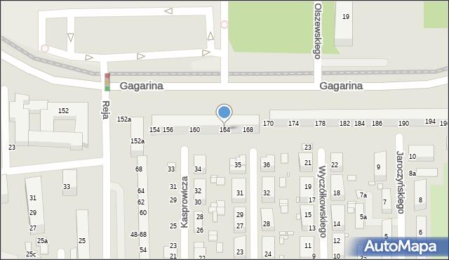 Toruń, Gagarina Jurija, 164, mapa Torunia