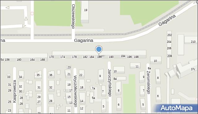 Toruń, Gagarina Jurija, 186, mapa Torunia