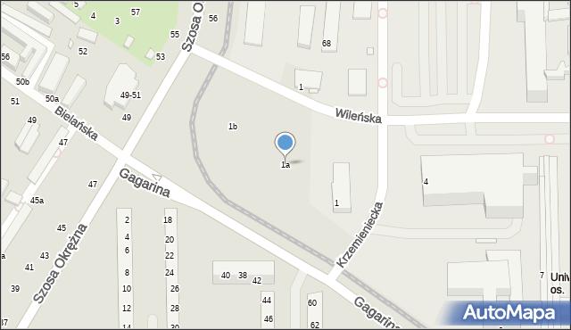Toruń, Gagarina Jurija, 1a, mapa Torunia