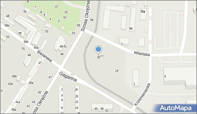 Toruń, Gagarina Jurija, 1b, mapa Torunia