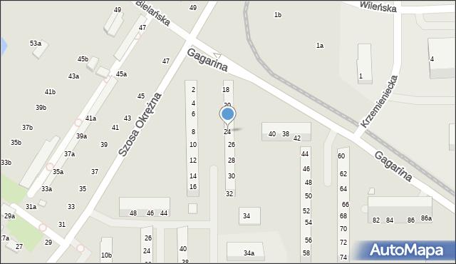 Toruń, Gagarina Jurija, 24, mapa Torunia