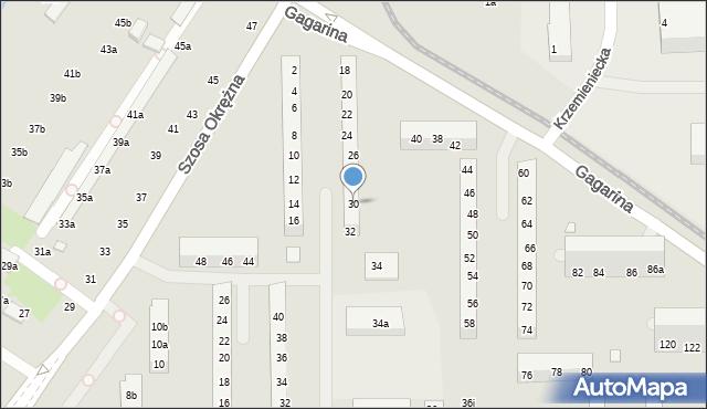 Toruń, Gagarina Jurija, 30, mapa Torunia