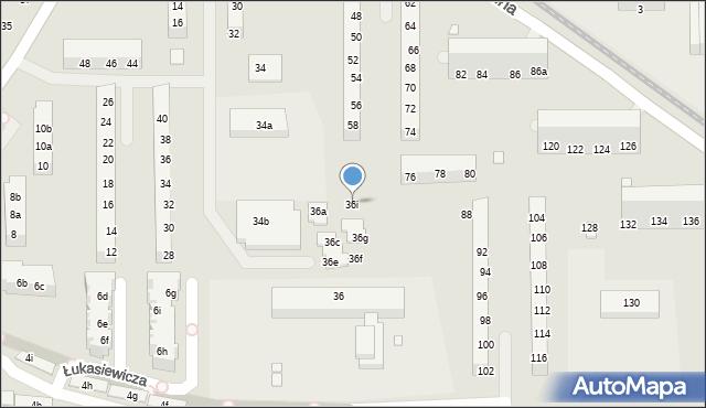 Toruń, Gagarina Jurija, 36i, mapa Torunia