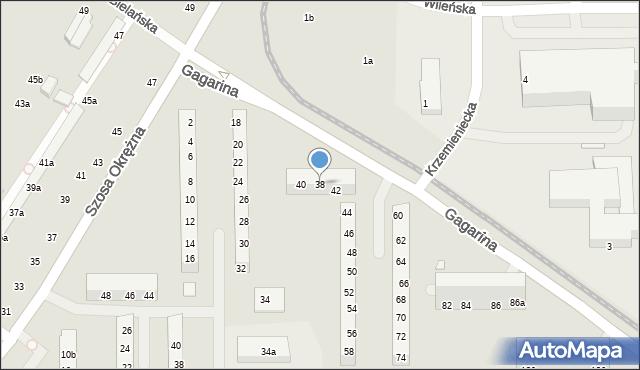 Toruń, Gagarina Jurija, 38, mapa Torunia