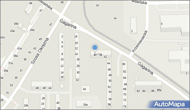 Toruń, Gagarina Jurija, 40, mapa Torunia