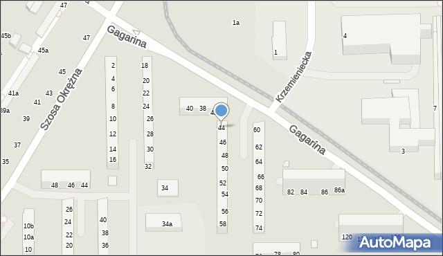 Toruń, Gagarina Jurija, 44, mapa Torunia