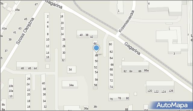 Toruń, Gagarina Jurija, 48, mapa Torunia