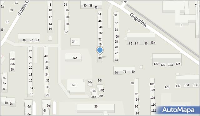 Toruń, Gagarina Jurija, 58, mapa Torunia